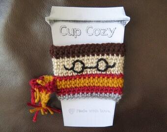 Crochet Cup Cozy Cup Sleeve Kitty Harry Space Star Ladybug Mouse Honey Bear Reusable