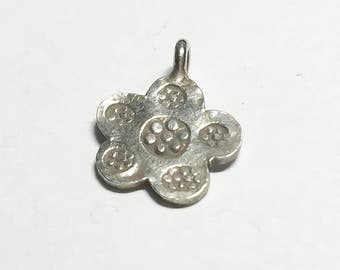 Hill Tribe Silver Charm Flower