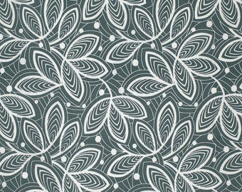 """Leaf in Minveral from Amy Butler's Violette for Free Spirit Fabrics  - listing for 1 Yard 36x""""44""""  FM"""