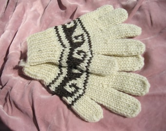 Hand Knit  Wool Gloves, Five pair