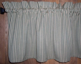 Ticking Curtains Etsy