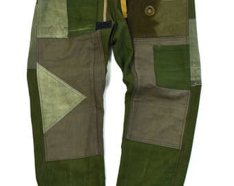 vintage textile hand made jogger pant
