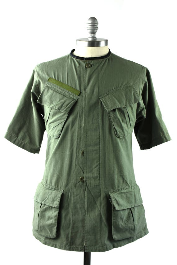 Nehru collar military shirt