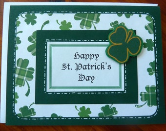Handmade St Patrick's Day Card, Irish Blessing Card, May the Road Rise to Meet You, Irish Greeting Card,  Paper Handmade Greeting Card