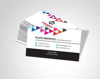 Business Cards (Landing Page (SPOT GLOSS-03) Template)