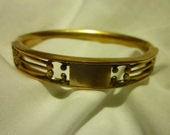 B32 W & SB Stamped Vintage Gold Filled Bracelet.