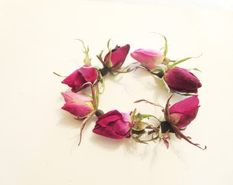12 Mini dried  roses -Real dried  roses-red roses- red Rosebuds- Dried Roses Buds for  Necklace-ring