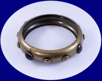 Vintage Bangel Bracelet Stud Bangle Bracelet Statement Bracelet Brass Beacelet Christmas Gift