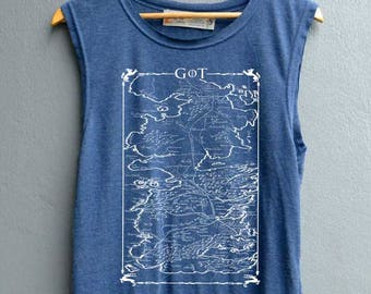 Jon Snow Shirt Mother of dragons Tank top Shirt Muscle Tank Top Womens