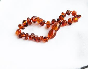 Amber Bracelet for Teething Baby // Teething Bracelet // Baltic Amber Baby Jewelry // Baby Shower // Baby Gift // Baby Amber