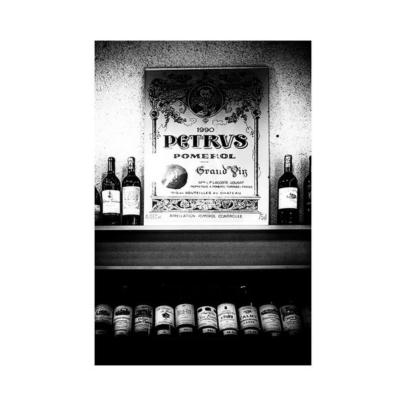 Black And White Wine Wall Decor : Items similar to wine cellar wall art black white