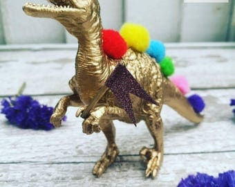 Pompoms and Cheer Dinosaur Party // Kids Room Decor //Office Decor // Cake Topper // Dinosaur Birthday Party Decor // Party Supplies