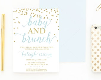 Baby Shower Invitation, Baby Shower Brunch, Baby Shower Brunch Invitation,  Brunch, Baby