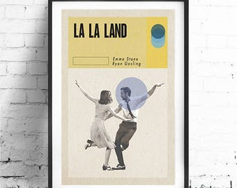 LA LA LAND, Original Art, Minimalist Movie Poster Print 13 x 19""