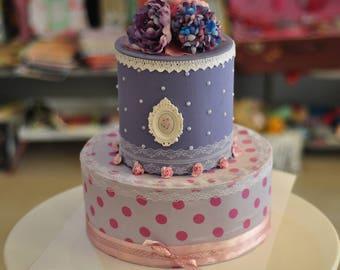 Handmade Fake Cake, Decorative Cake, Cardboard Cake, Gift for Mom, Mother's Day