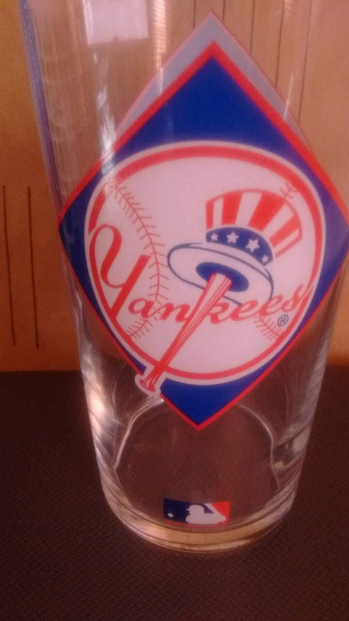 1994 Texaco New York Yankees Drinking Beverage Glass Mlb