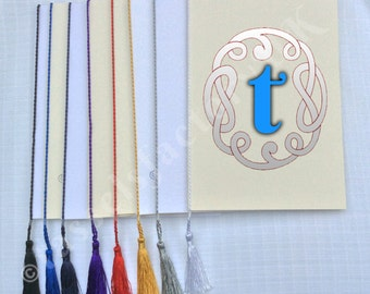 A5 Premium Tassels - Order of Service Cards, Wedding or Menu Cards 10 Colours (Pack of 10)