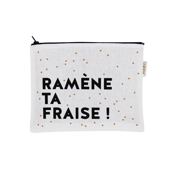 Pochette noire blanche et dor avec message ram ne ta - Ramene ta fraise ...