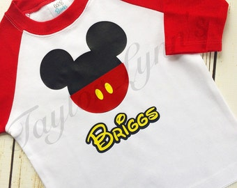 Mickey Mouse shirt, Mickey Mouse birthday, Mickey Mouse birthday shirt