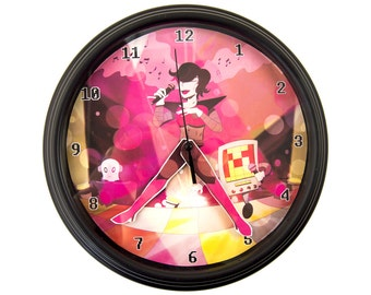Undertale - Mettaton - 3D Wall Clock - Undertale Clock - Gamer Decor - Gamer Gift - Geek Gift - Video Game Decor - Video Game Wall Clock