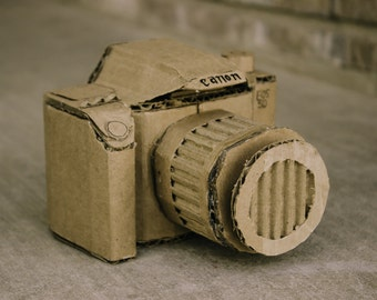 Cardboard Camera Sculpture