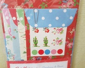 Cowboys & Roses Cath Kidston Stationery Set with stickers, Stationery mix and match notelets and envelopes,