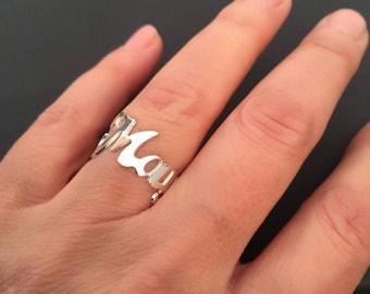 Name Ring, Gold Ring Name, Initial Ring , Custom Ring, Personalized name ring, Custom Name Ring,  Personalized Ring