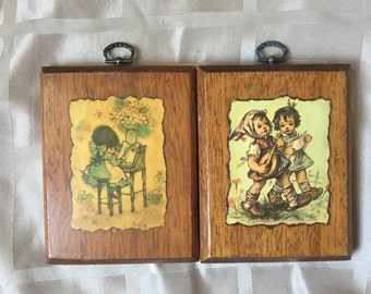 Two cute Plaque Made on Solid Wood