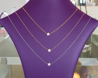 star necklace with cubic zirconia in solid sterling silver, Absolutely gorgeous and safe to get wet, EVERYDAY LOW PRICE