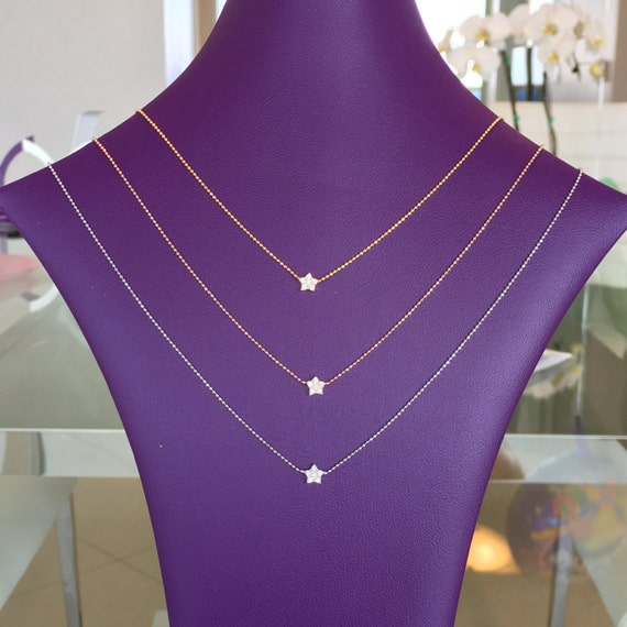 star necklace cubic zirconia sterling silver MEGA SALE !
