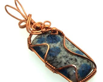 K2 Gemstone Wire Wrapped Pendant Design 1