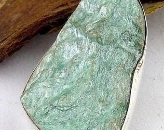 PENDANT FUCHSITE JEWELS silver, natural stone, fuchsite f9.2 jewelry