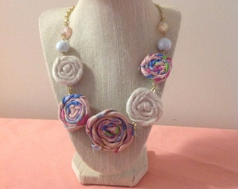 Natural Rosette Statement Necklace