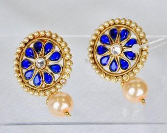 Antique Indian stud earrings | Indian Jewelry | Indian Earrings | indian jhumkas