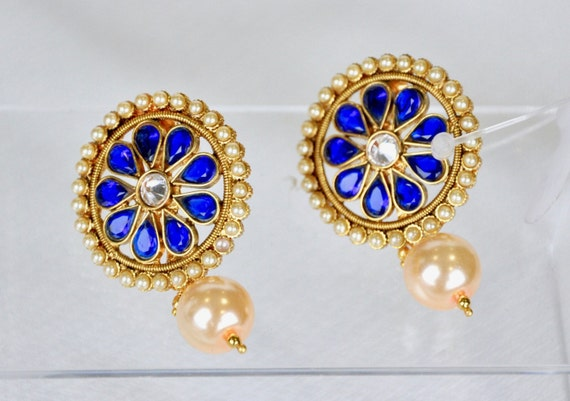 Antique Indian stud earrings | Indian Jewelry | Indian Earrings | indian jhumkas