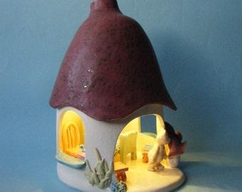 Teddy night light, ceramic lamp.