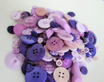 Purple and Lilac Button Assortment