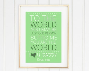 Personalised Dad Print, Father's Day Present, Unique Gift for Dad from Children.