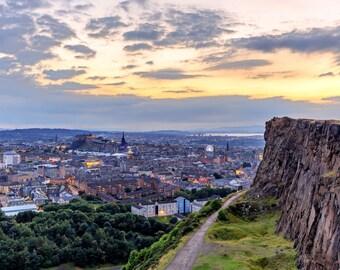 Blue hour over Edinburgh