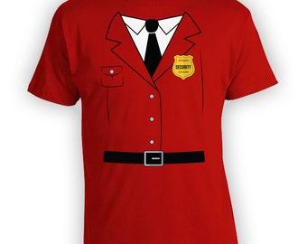 Security Halloween Shirt - Funny Halloween Shirt, Security Uniform Costume, Costume Idea, Halloween Party Shirt, Joke party shirt- CT-904