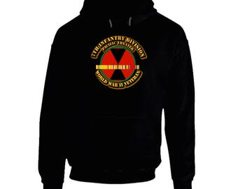 Ssi - 7th Infantry Division - Pacific - Wwii Hoodie