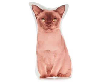 Burmese Cat, Cat Decor, I Love Cats, Cat Lover, Cat Lady, Pet Cat, Cat Pillow, Cat Cushion, Cat Gifts, Cat Nursery, Cat Gift, Cat Lady Gifts