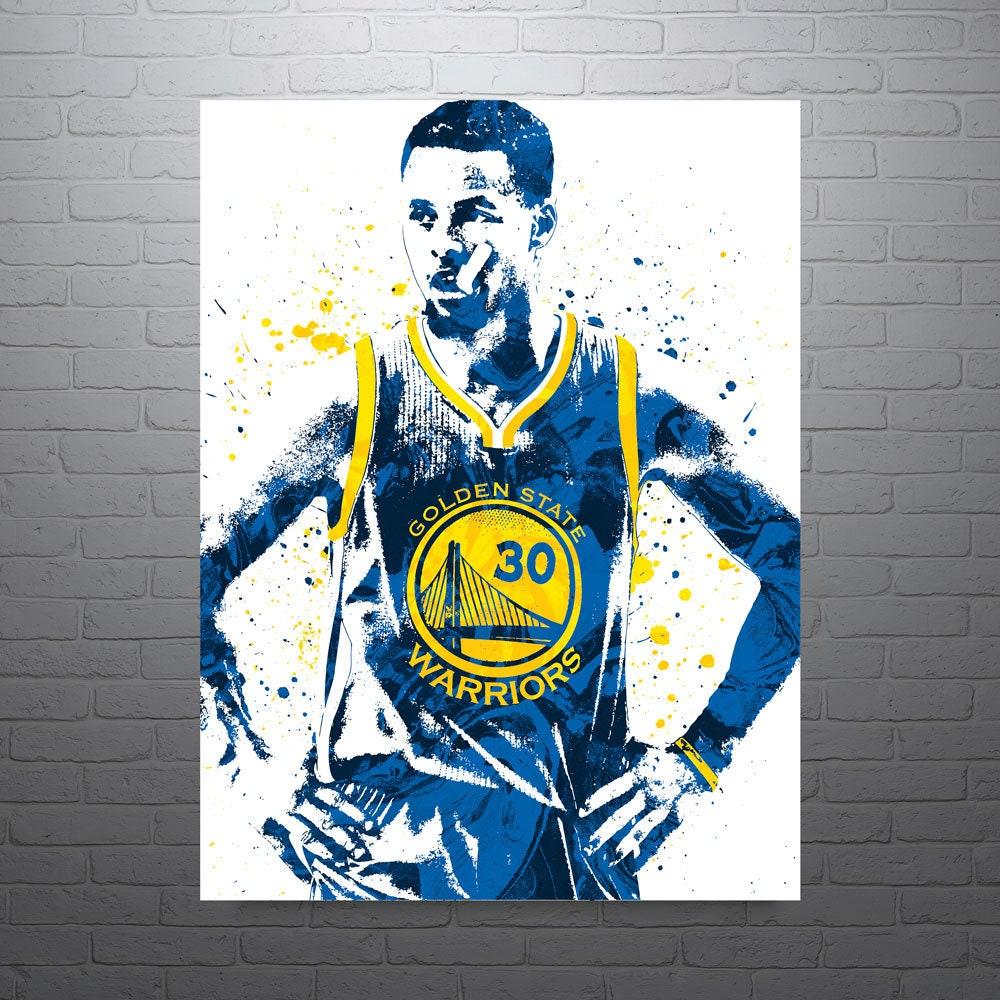 stephen curry golden state warriors sports art print