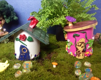 Your Choice Of One Colorful Handmade Miniature Fairy Garden House Fairy  Garden Accessories Terrarium Accessories Micro
