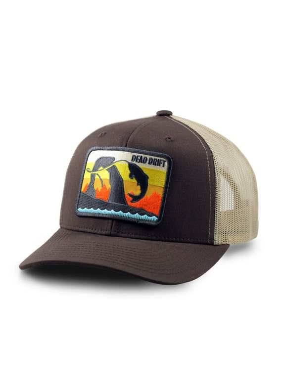 Fly fishing hat utah trucker hat utah snapback trout fly for Fitted fishing hats