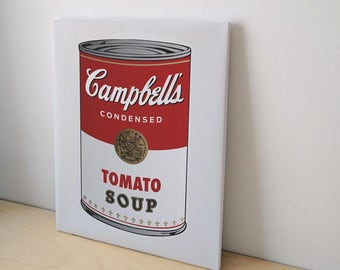 "Canvas 8x10"" Campbell's Soup Art Print - Canvas Wall Art"