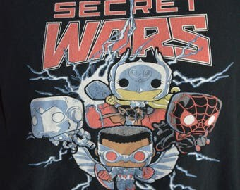 Vintage Funko Pop Secret Wars Graphic T-Shirt (Size: L)