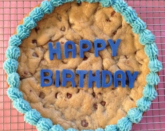 Homemade Birthday Chocolate Chip Cookie