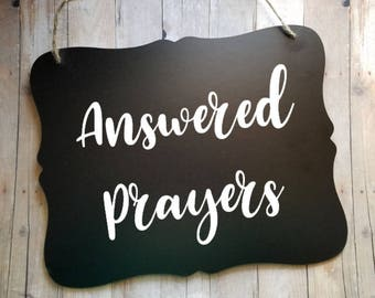 Adoptive Parents Chalkboard Sign - Adoption - Foster Parents Sign - Photo Prop - Adoption Announcement - Answered Prayers - Religious