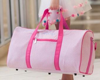 Duffle bag Pink Duffle Bag Monogrammed Girls Duffle bag Personalized Duffle bag Duffle bag travel Duffle bag Gifts for her Pink Duffle Bag